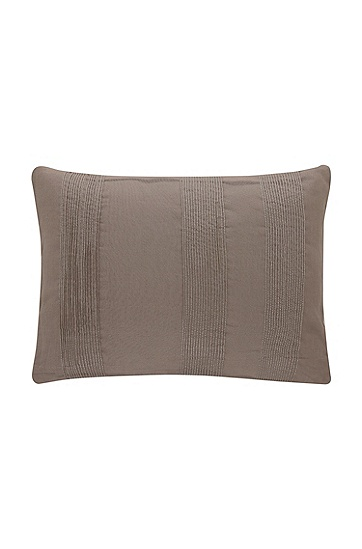 Cushion cover with a striped pattern 'PINTUCK', Brown