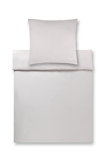 Duvet cover in premium cotton percale 'Plain', Grey