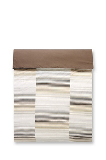 Striped duvet cover 'RYTHM', Brown