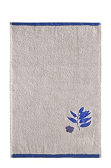 Guest towel 'COBALT LEAVES'