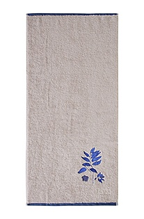 Towel with a floral motif 'COBALT LEAVES'