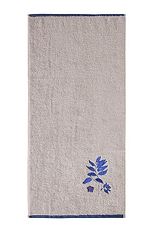 Serviette de toilette florale, COBALT LEAVES