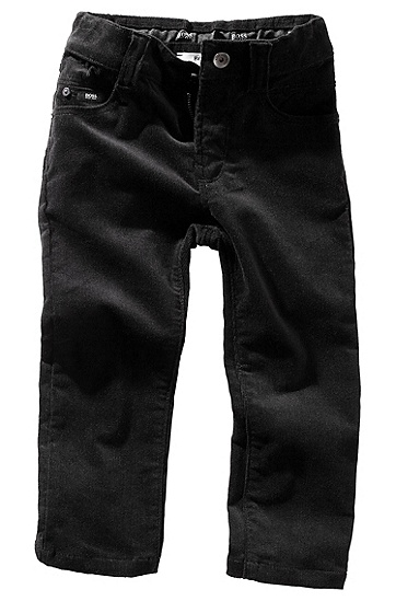 Five-pocket corduroy trousers 'J04032', Black
