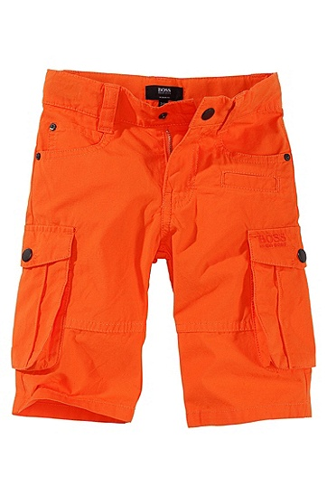 Cotton cargo shorts 'J04060', Orange