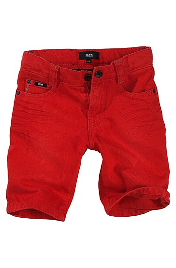 Cotton denim shorts ´J04062`, Red