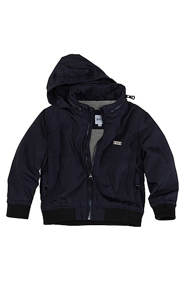 Hooded windbreaker jacket 'J06036', Dark Blue