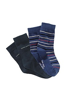 Double pack cotton blend socks 'J20095'