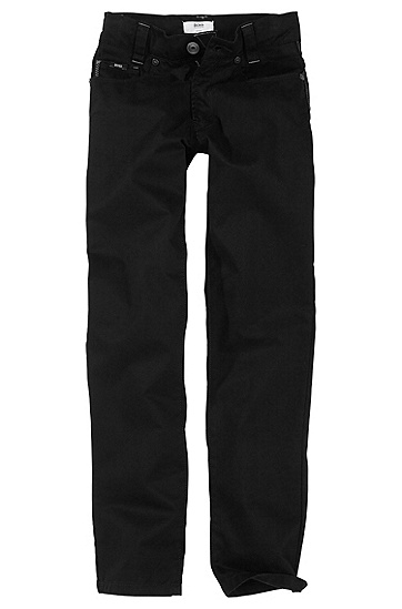 Slim fit cotton blend trousers ´J24126`, Black