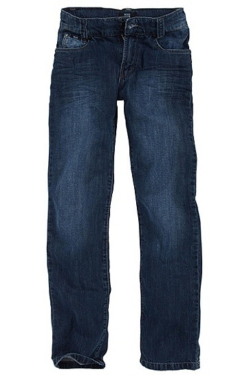 Slim fit cotton jeans 'J24128', Dark Blue