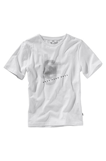 T-shirt à encolure ronde, J25302, Blanc