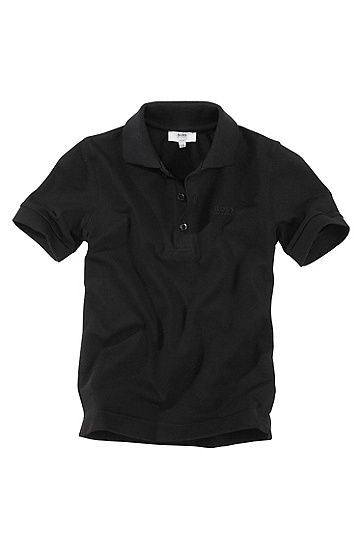 Cotton polo shirt ´J25306`, Black