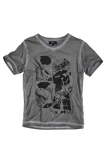 T-shirt détente à encolure ronde, J25345, Gris