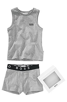 Cotton tank top and boxer shorts 'J28020'
