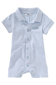 Pure cotton romper suit with polo collar 'J94056