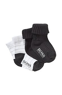 Pack of 2 cotton blend socks 'J98064/83D'