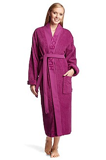 Bathrobe with a wide trim 'PLAIN'