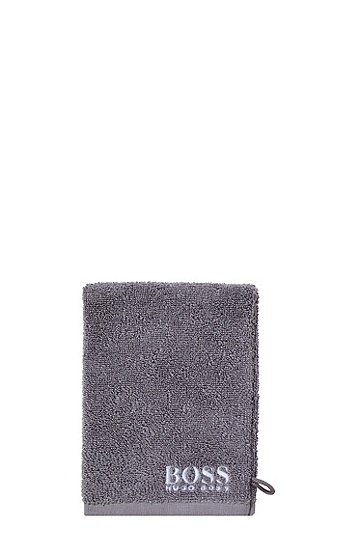 Cotton wash glove 'PLAIN', Dark Grey