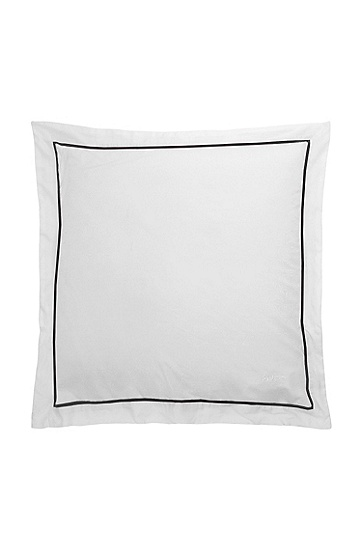Cushion cover with a geometric pattern 'CIRCLES', White